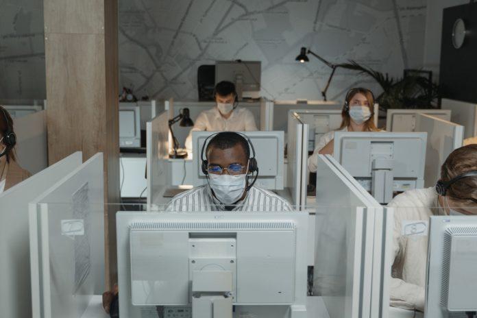 operação de call center